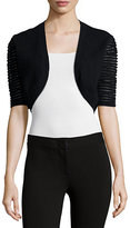Neiman Marcus Cashmere Collection Dramatic-Sleeve Bolero