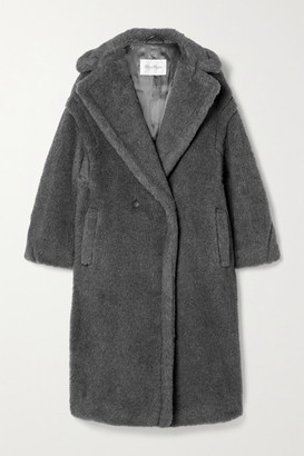 Max Mara Teddy Bear Icon Wool, Alpaca And Silk-blend Coat - Gray