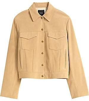 Theory Women's Suede Trucker Jacket