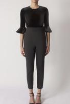 Black Halo Brooklyn Velvet Jumpsuit