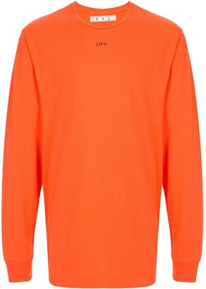 Off-White Arrows-print cotton sweatshirt