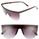 BP Women's 65Mm Shield Sunglasses - Tort