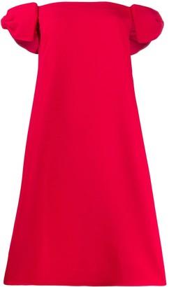 Valentino bow shoulder dress