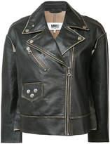 MM6 MAISON MARGIELA zipped biker jacket