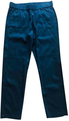 Theory Black Linen Trousers