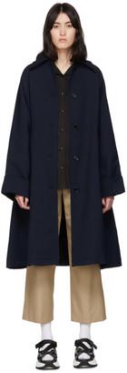 MM6 MAISON MARGIELA Navy Wool Trench Coat