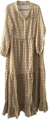 Non Signã© / Unsigned Hippie Chic Yellow Polyester Dresses