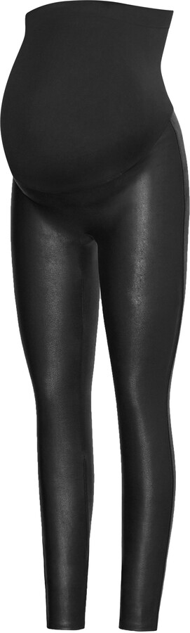 Spanx R) Mama Faux Leather Maternity Leggings