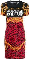 Versace baroque leopard print T-shirt dress