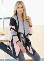 Together Colour Block Waterfall Cardigan