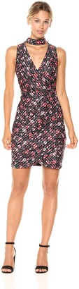 GUESS Women's Printed Shadow Stripe Dress