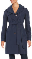 Ellen Tracy Water-Resistant Hooded Trench