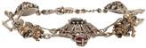 Alexander McQueen Silver Skull & Skeleton Bracelet
