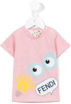 Fendi logo print T-shirt - kids - Cotton - 9 mth