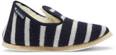 Armor Lux Shearling-Lined Striped Wool Slippers