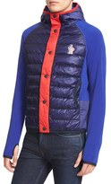 Moncler Men's Maglia Quilted Down Front Hooded Cardigan