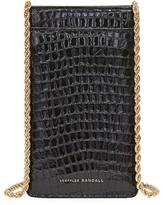 Loeffler Randall Augusta Croc-Embossed Leather Crossbody Phone Pouch
