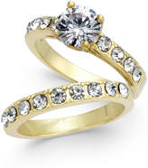 Charter Club Gold-Tone 2-Pc. Set Cubic Zirconia Rings, Created for Macy's