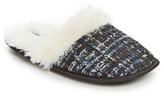 Ellen Tracy Black & Navy Tweed Slipper
