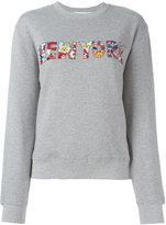 MSGM New York sweatshirt - women - Cotton/Viscose - S