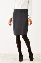 J. Jill Ponte Knit Gingham Pencil Skirt