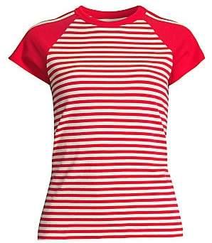 Current/Elliott Women's The Saturday Raglan Stripe Tee