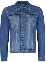 Topman Washed Blue Denim Jacket
