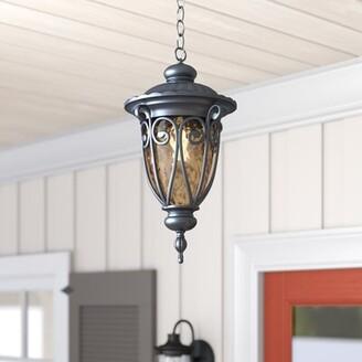 Fleur De Lis Living Grandstaff 1-Light Outdoor Hanging Lantern Finish: Matte Black