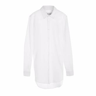 Circle Park Men's Longline Shirt in White