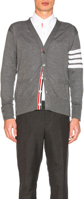 Thom Browne Classic Merino Cardigan in Medium Grey | FWRD