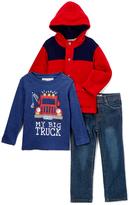 Kids Headquarters Red Hooded Jacket Set - Infant Toddler & Boys