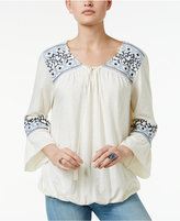 Style&Co. Style & Co. Embroidered Peasant Top, Only at Macy's