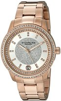 Stuhrling Original Vogue Women's Quartz Watch with Silver Dial Analogue Display and Rose Gold Stainless Steel Bracelet 794.03