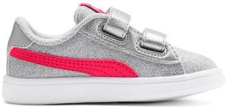 Puma Kids' V2 Glitz Glam Trainers with Touch 'n' Close Fastening