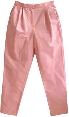 Mansur Gavriel Pink Cotton Trousers for Women