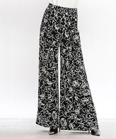 Flying Tomato Black & White Floral Lounge Pants