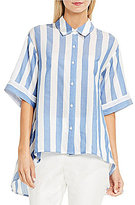 Vince Camuto Bold Stripe Oversized Button-Down Shirt