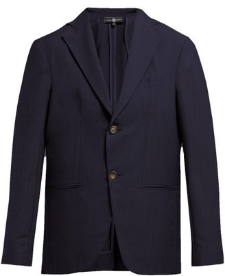 Edward Crutchley Single-breasted Wool Blazer - Navy