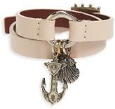 Alexander McQueen Women's Marine Leather Wrap Bracelet