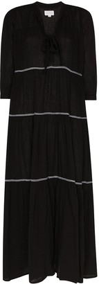 HONORINE Giselle tiered maxi dress