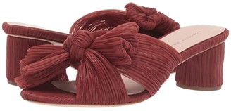 Loeffler Randall Emilia Pleated Knot Mule (Gold Pleated Lame) Women's Shoes