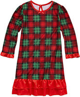 RUDOLPH THE RED NOSE REINDEER Holiday Plaid Nightgown-Toddler Girls