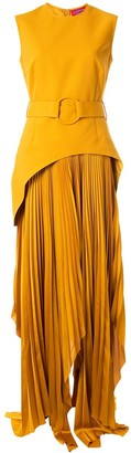SOLACE London Anya asymmetric dress
