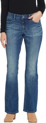 Laurie Felt Petite Classic Denim Boot-Cut Jeans