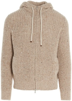 Brunello Cucinelli Knitted Zipped Cardigan