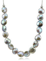 Lord & Taylor 12MM Peacock Round Coin Pearl Slider Necklace