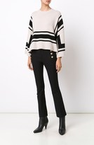 Derek Lam Cropped Flare Trouser with Sailor Buttons