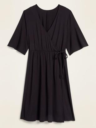 Old Navy Waist-Defined Faux-Wrap Jersey Plus-Size Dress