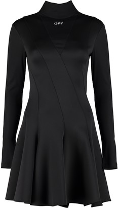 Off-White Technical Fabric Turtleneck Dress
