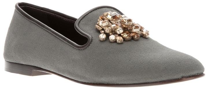 Giuseppe Zanotti Design crystal embellished loafer